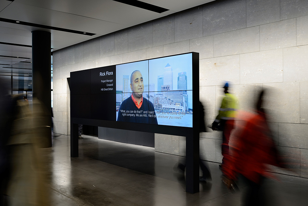 Welcome Display bei der Hilti AG in Schaan