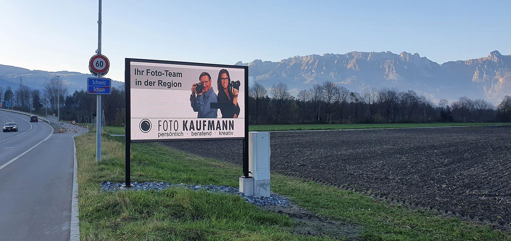 Outdoor Digital Signage in Schaan